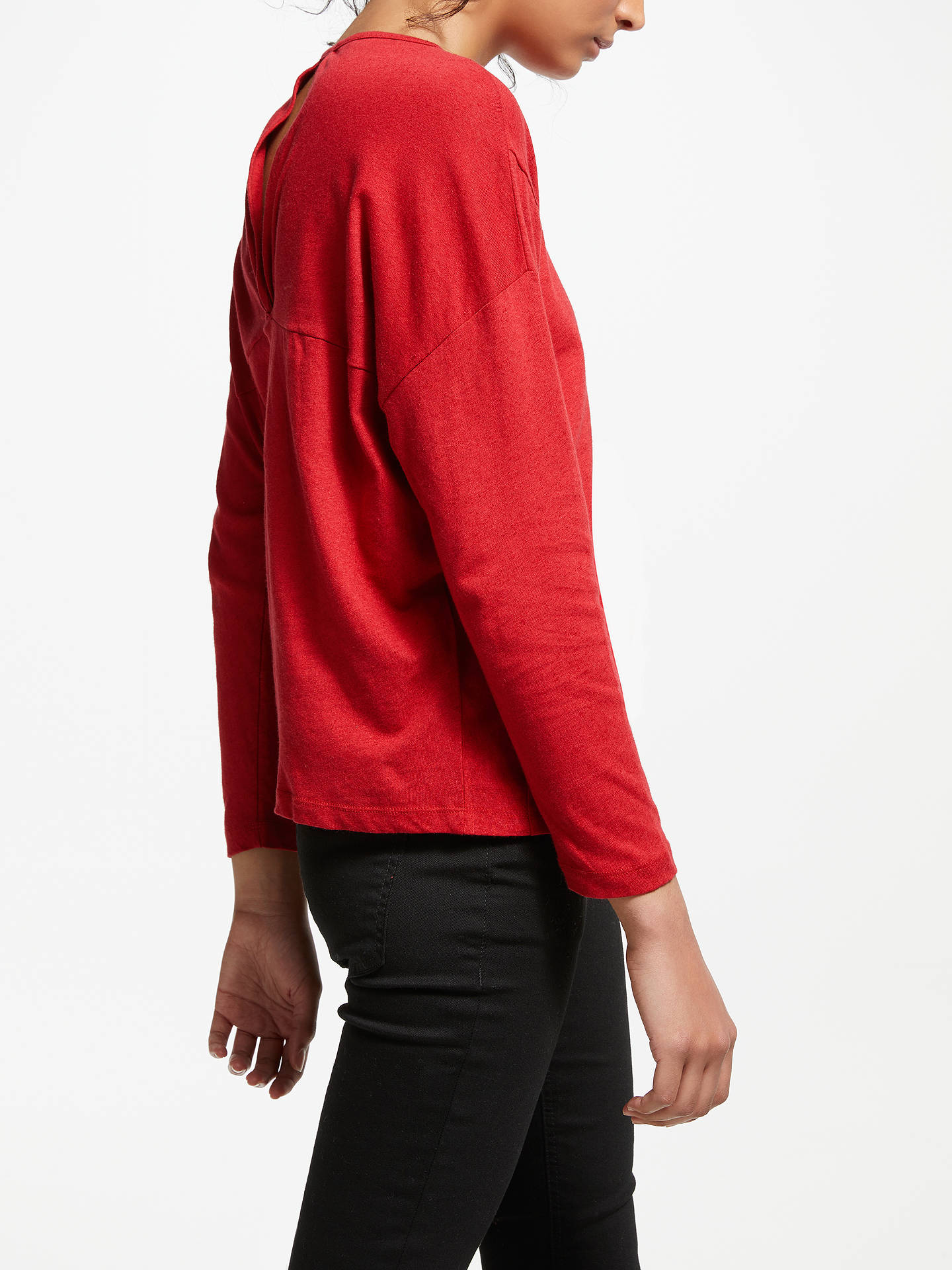 Buy AND/OR Ilona Back Knot Detail Top, Red, 8 Online at johnlewis.com
