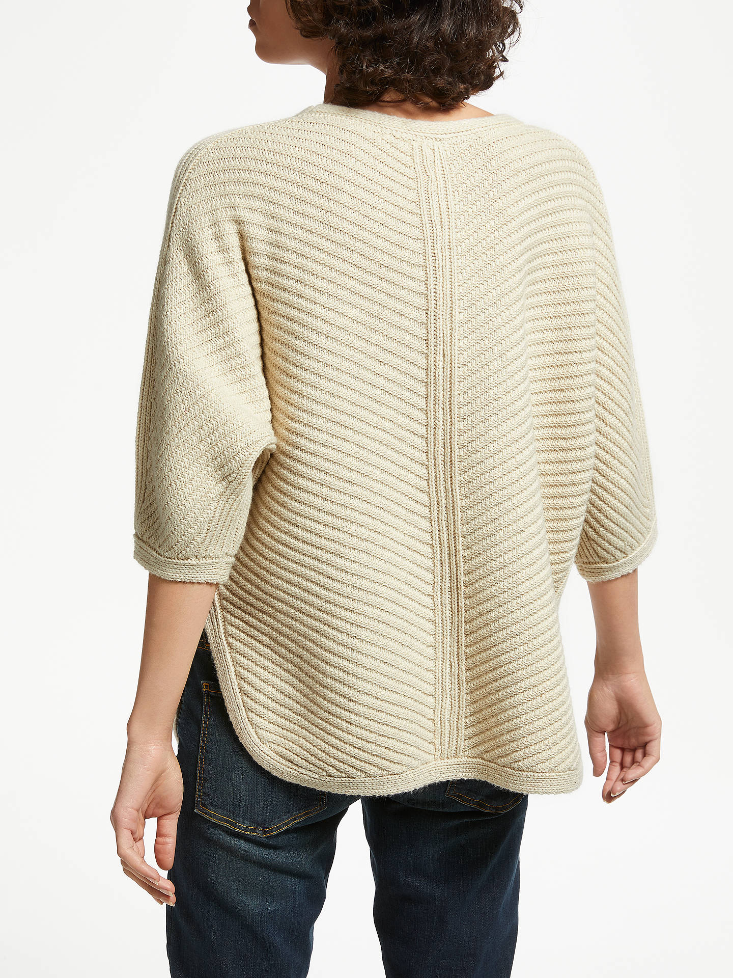 BuyAND/OR Cocoon Rib Jumper, Neutral, S Online at johnlewis.com