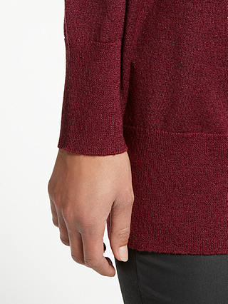 Buy AND/OR Zoe V-Neck Jumper, Red, 8 Online at johnlewis.com