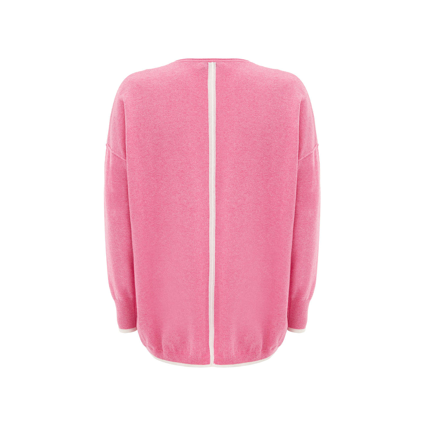 BuyMint Velvet Tipped Cocoon Knit Jumper, Pink, XS Online at johnlewis.com