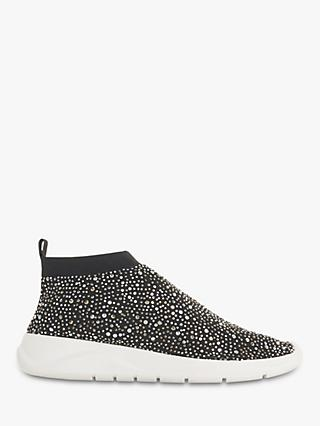 Dune Emerald Embellished Sock Trainers