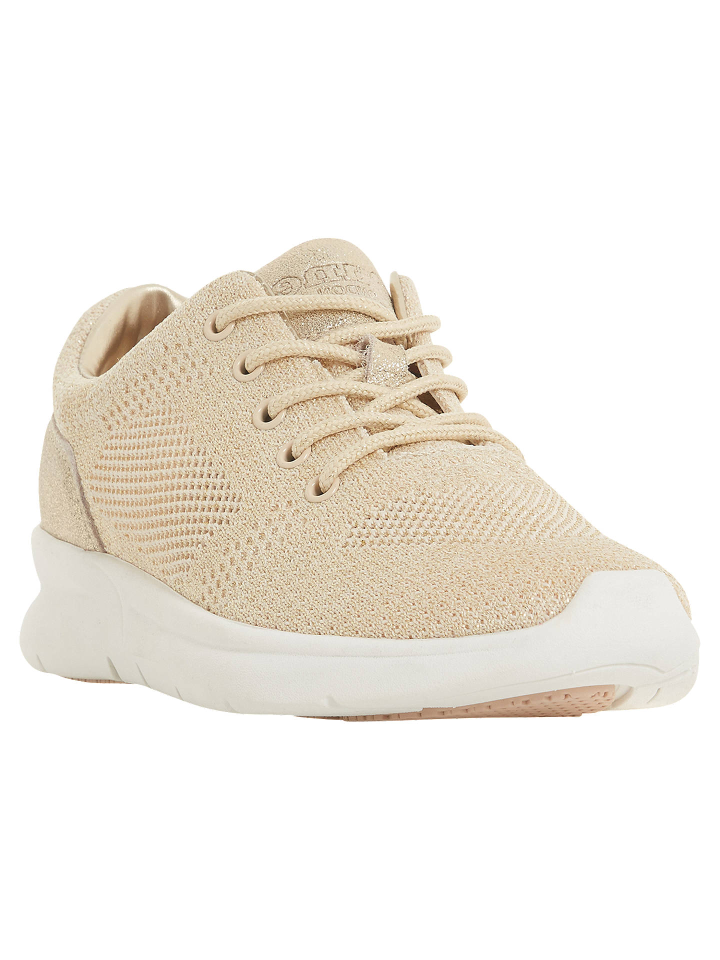 BuyDune Euphoric Lace Up Trainers, Pink, 3 Online at johnlewis.com