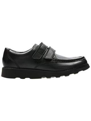 Clarks Children's Crown Tate Leather First Shoes, Black