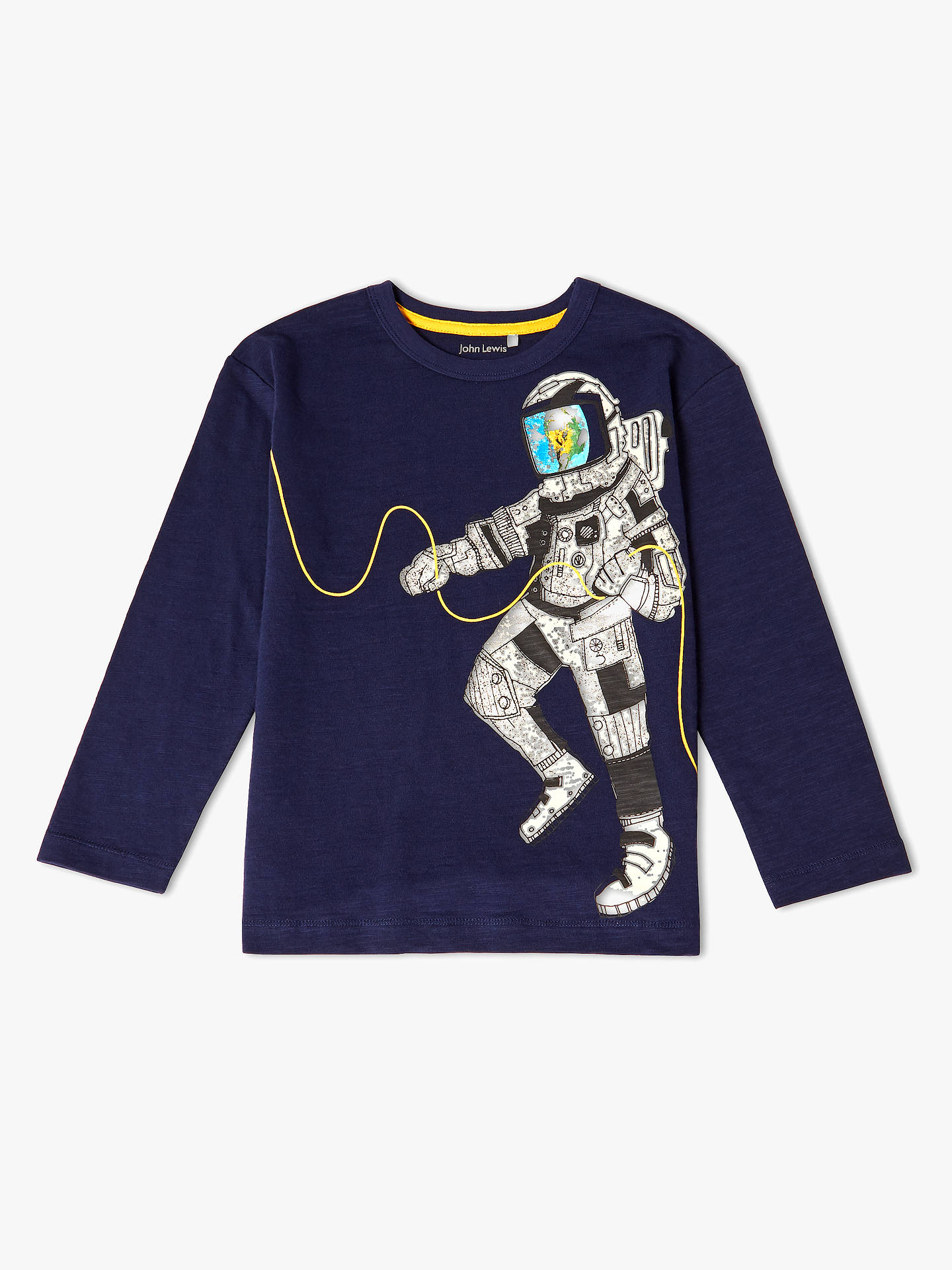 3b03c5f0d027 Buy John Lewis   Partners Boys  Astronaut Long Sleeve T-Shirt