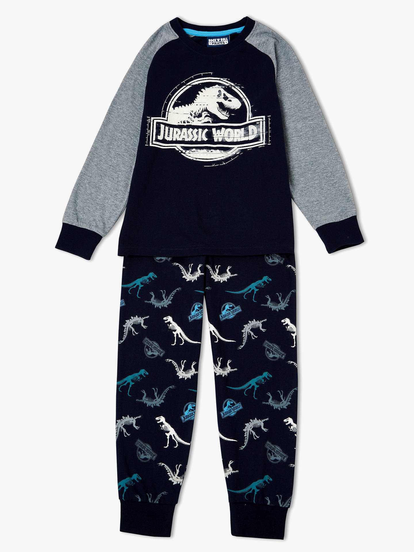 1e7555388 Buy Jurassic World Boys' Logo Pyjamas, Navy, 3-4 years Online at ...