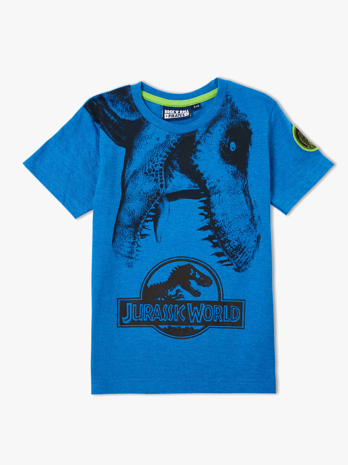 226ebb46 Jurassic World Boys' T-Rex T-Shirt, Blue at John Lewis & Partners