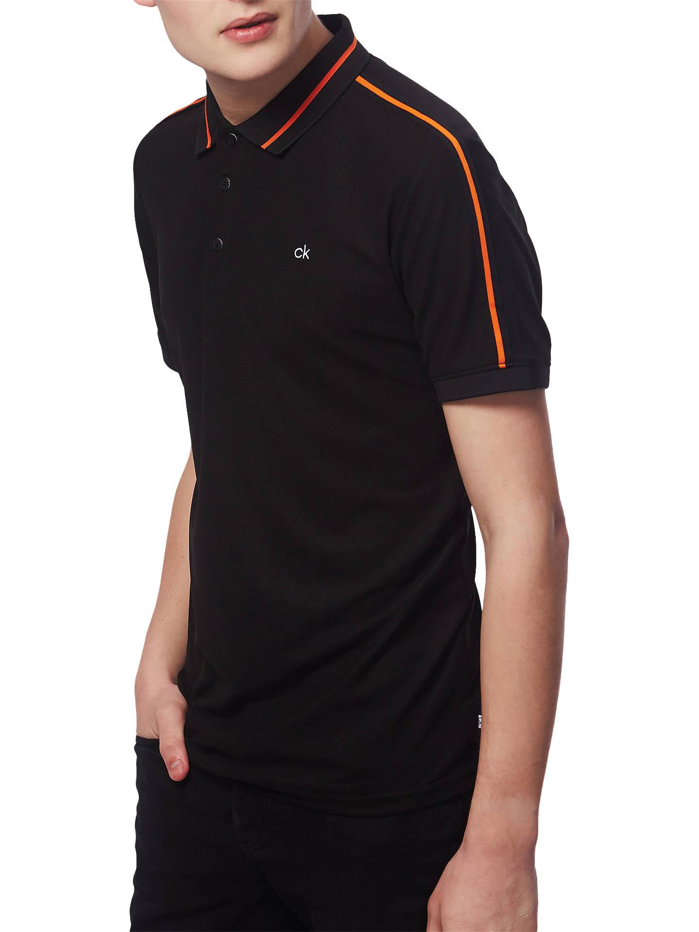 acefb01c Buy Calvin Klein Extension Polo Shirt, Black, S Online at johnlewis.com ...