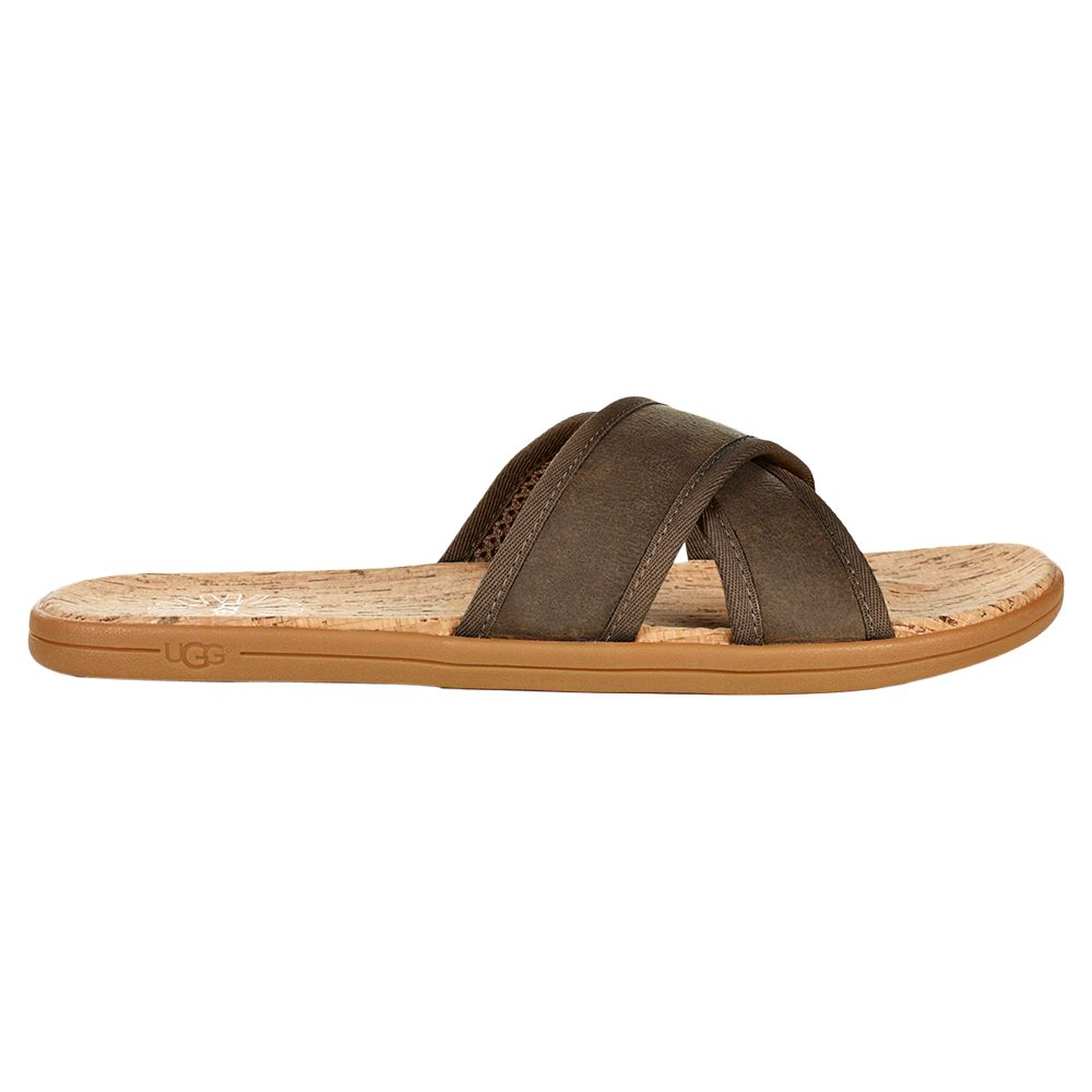 eb42bf63e913d7 UGG Seaside Slide Sandals, Antelope at John Lewis & Partners