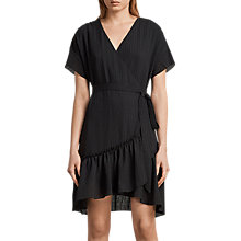Buy AllSaints Rene Dress, Black Online at johnlewis.com