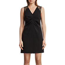Buy AllSaints Olivia Dress, Black Online at johnlewis.com