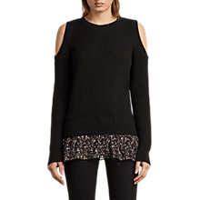 Buy AllSaints Pepper Jumper, Black Online at johnlewis.com