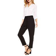 Buy Oasis Crepe Peg Leg Trousers Online at johnlewis.com