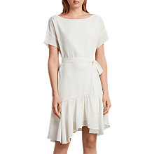 Buy AllSaints Sara Textured Dress, Chalk White Online at johnlewis.com