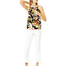 Buy Warehouse Hibiscus Camisole Black Online at johnlewis.com