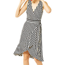 Buy Warehouse Stripe Wrap Dress, Multi Online at johnlewis.com