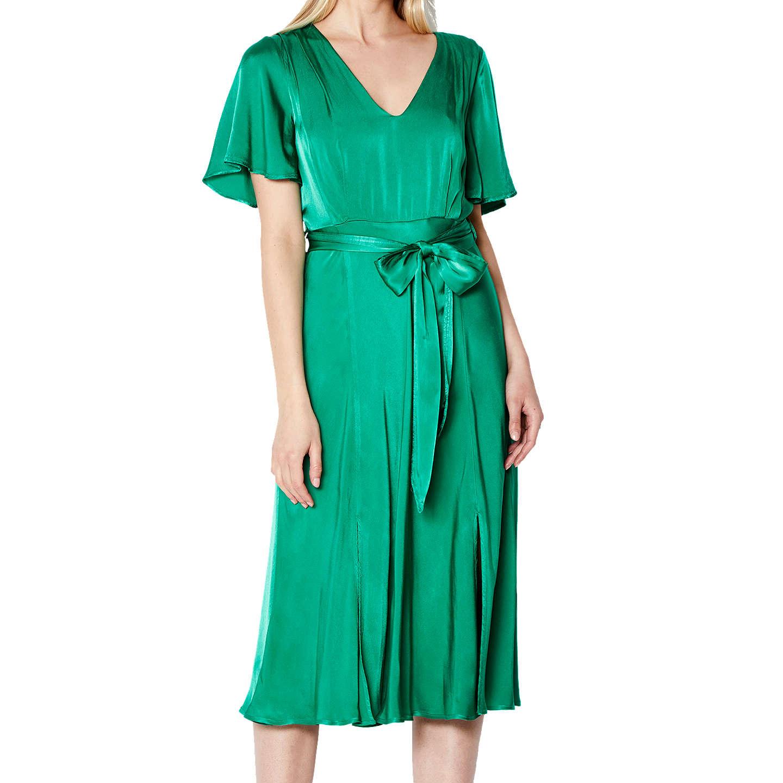 Ghost Ada Dress, Leaf Green at John Lewis