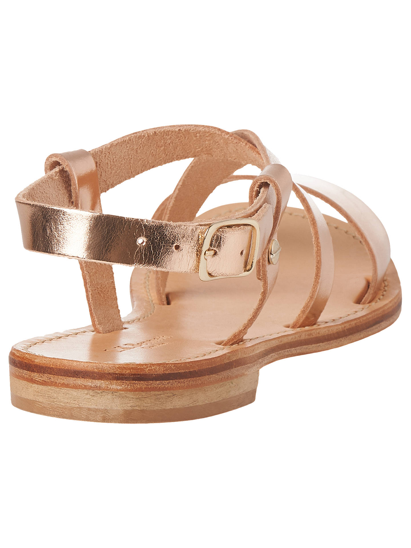 BuyL.K.Bennett Hemera Flat Sandals, Rose Gold Leather, 3 Online at johnlewis.com