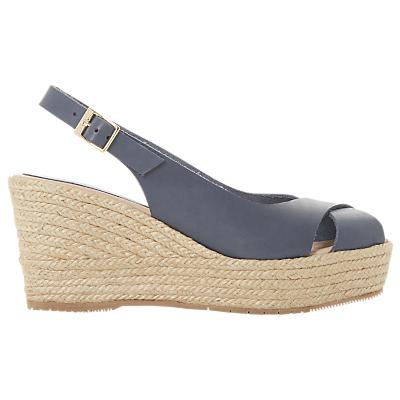 Dune Black Kyri Espadrille Wedge Heel Sandals