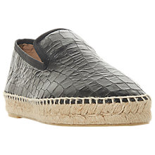 Buy Dune Black Leiria Espadrille Loafers, Black Online at johnlewis.com