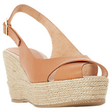Buy Dune Black Kyri Espadrille Wedge Heel Sandals Online at johnlewis.com