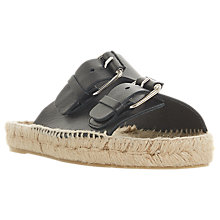Buy Dune Black Luso Double Buckle Espadrille Slip On Sandals, Black Online at johnlewis.com
