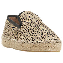 Buy Dune Black Leiria Espadrille Loafers, Leopard Print Online at johnlewis.com