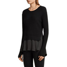 Buy AllSaints Taya Jumper, Black Online at johnlewis.com