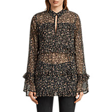 Buy AllSaints Deirdre Pepper Shirt, Black Online at johnlewis.com