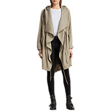 Buy AllSaints Portere Waterfall Front Parka, Dusty Green Online at johnlewis.com