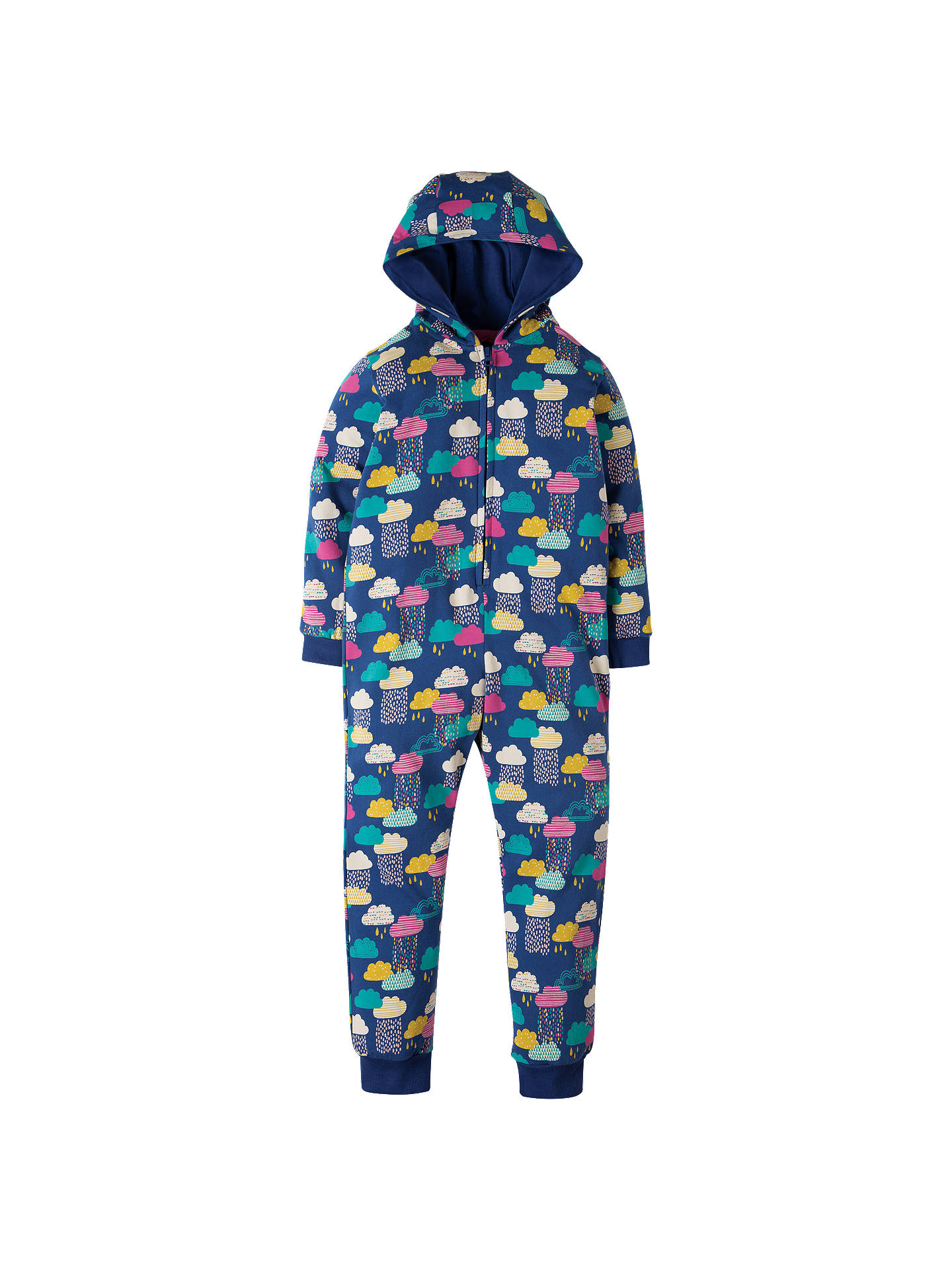 dcaeedb9f Buy Frugi Organic Children's Raincloud Print Onesie, Multi, 3-4 years  Online at ...