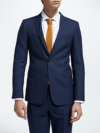 Kin Milled Semi Plain Slim Fit Suit Jacket, Blue