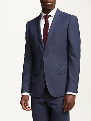 Kin Subtle Check Slim Fit Suit Jacket, Blue