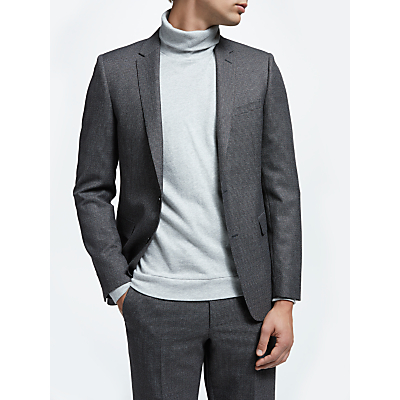 Kin Puppytooth Slim Fit Suit Jacket, Charcoal/Burgundy
