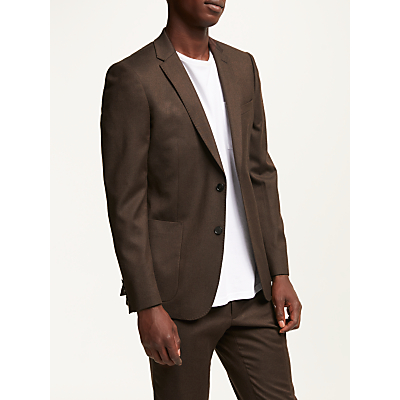 Kin Flannel Slim Fit Suit Jacket, Chestnut