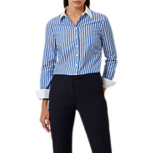 Buy Hobbs Annabella Shirt, Ivory/Blue Online at johnlewis.com