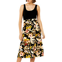 Buy Warehouse Hibiscus Skirt, Black Online at johnlewis.com