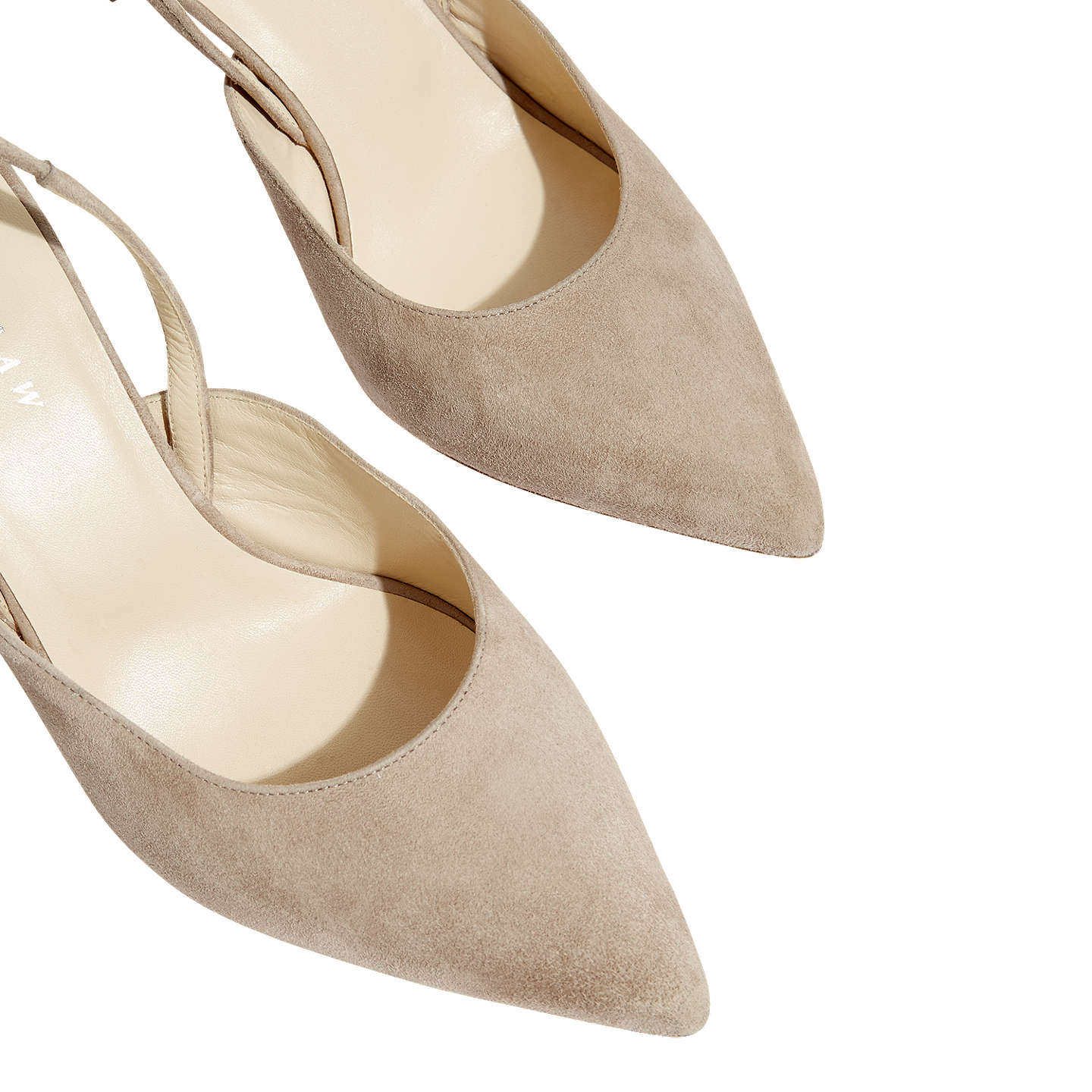 BuyJigsaw Neze Slingback Court Shoes, Taupe Suede, 3 Online at johnlewis.com