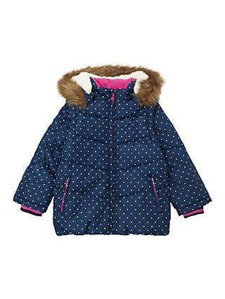 00f2934e427 John Lewis   Partners Girls  2-in-1 Spot Coat