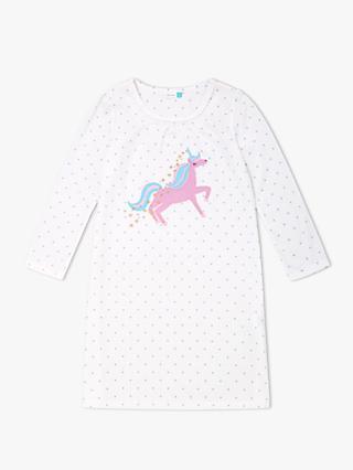 John Lewis Partners Girls Unicorn Night Dress