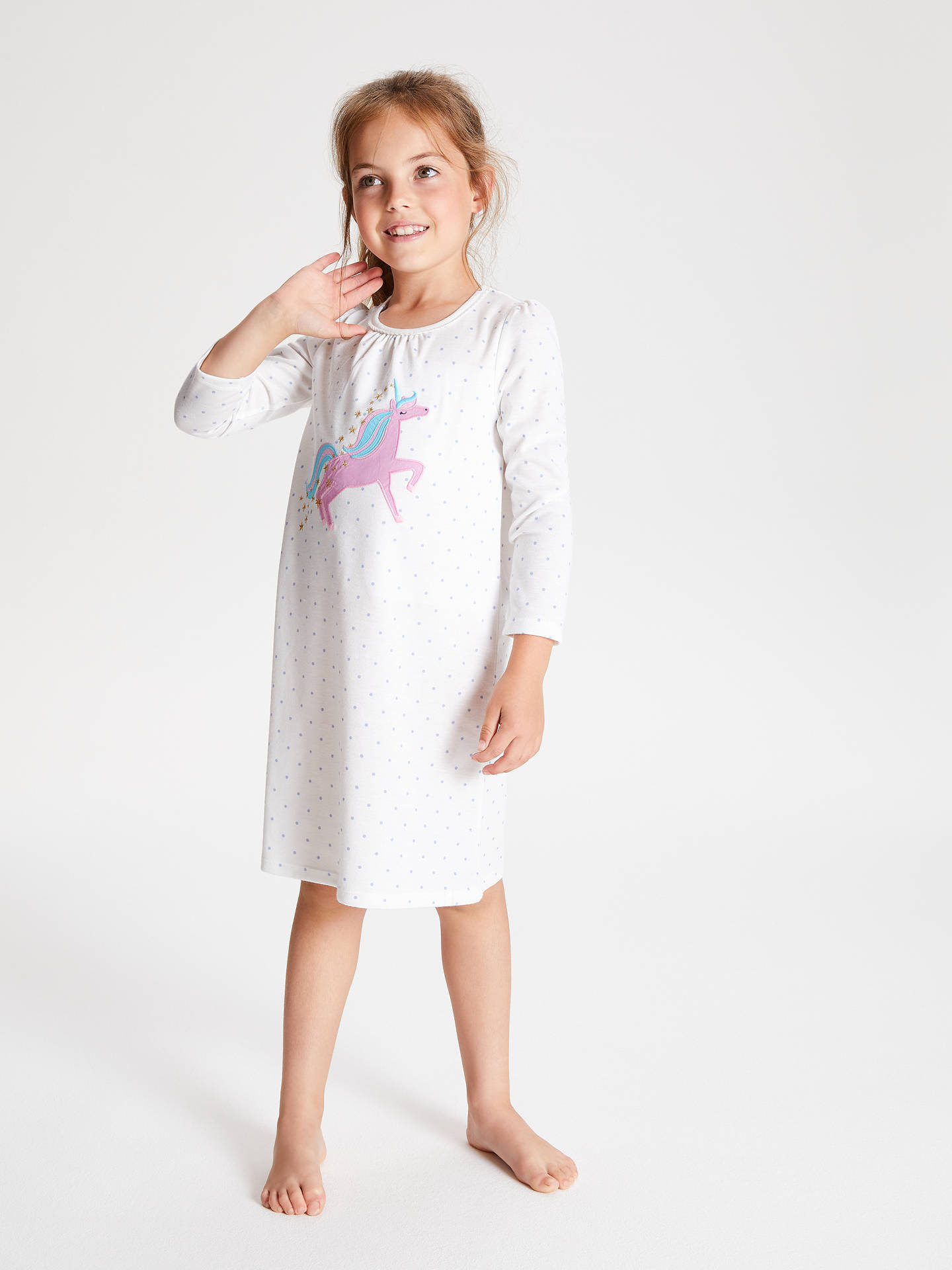 BuyJohn Lewis & Partners Girls' Unicorn Night Dress, Cream, 2 years Online at johnlewis.com