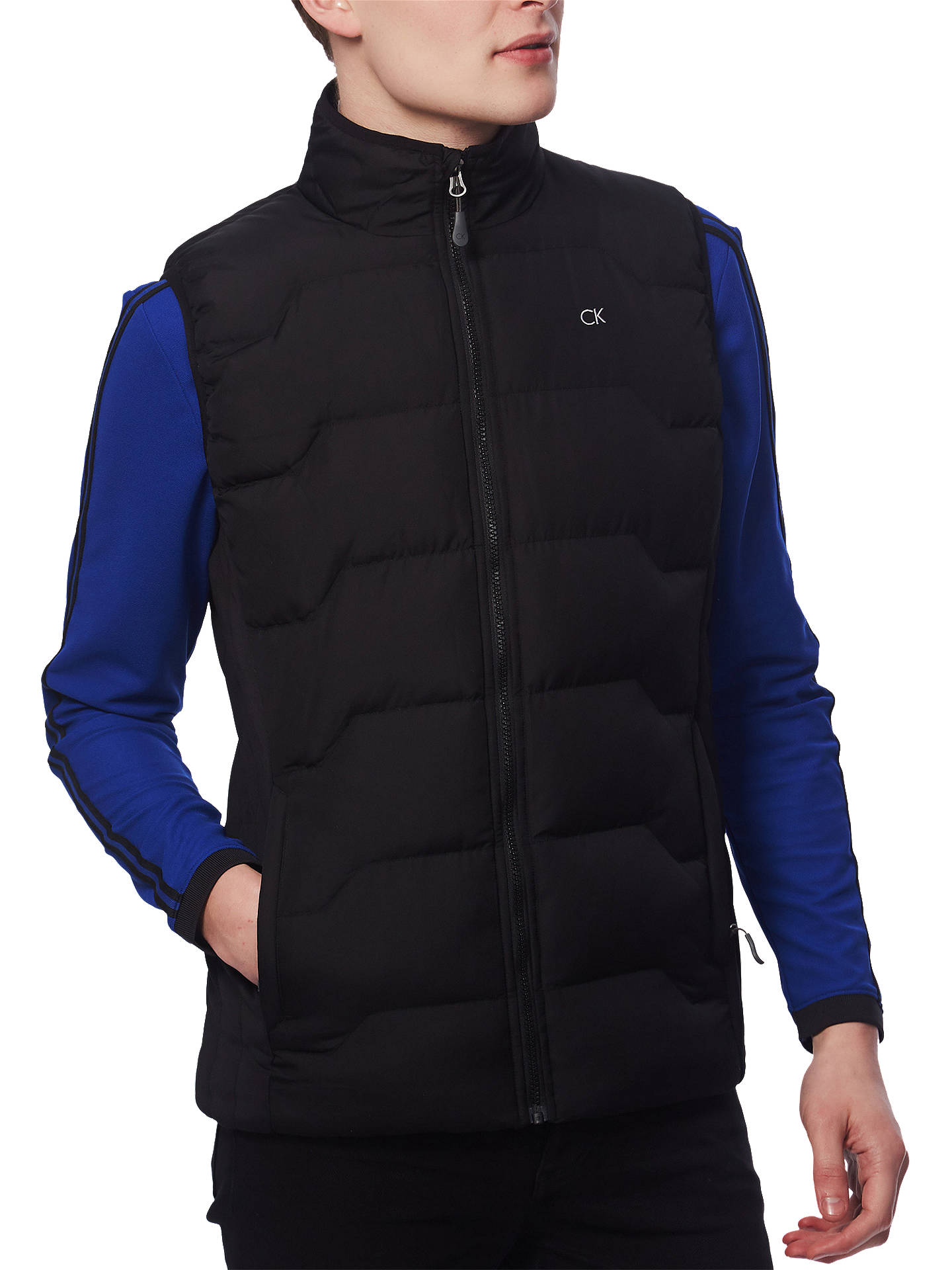 Buy Calvin Klein Golf Hyp Gilet, Black, S Online at johnlewis.com