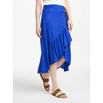 Numph Citrine Skirt, Blue Print
