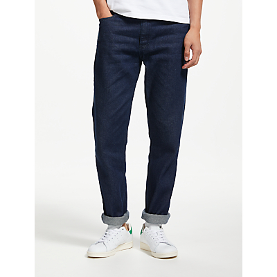 Image of Kin Rigid Denim Tapered Jeans, Indigo