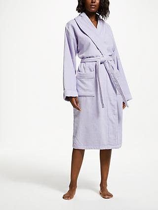 John Lewis & Partners Velour Luxury Cotton Unisex Bath Robe
