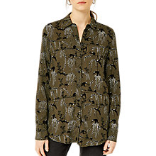 Buy Warehouse Monkey Print Shirt, Green Online at johnlewis.com