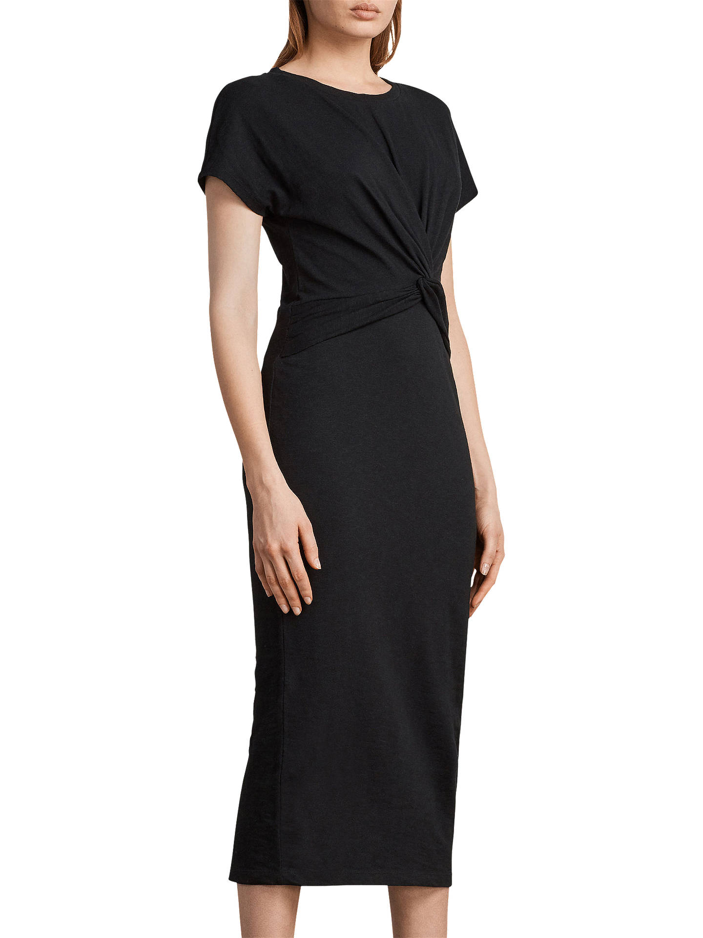 BuyAllSaints Paloma Long Dress, Black, XS Online at johnlewis.com