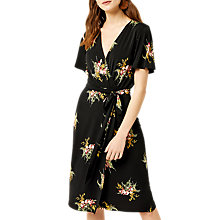 Buy Warehouse Tropical Bunch Dress, Black Online at johnlewis.com