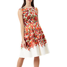 Buy Hobbs Nia Dress, Ivory/Multi Online at johnlewis.com