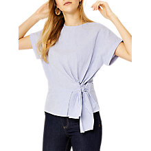 Buy Warehouse Stripe Tie Side Top Online at johnlewis.com