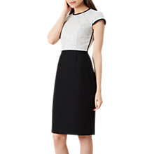 Buy Hobbs Lara Dress, Black/Ivory Online at johnlewis.com